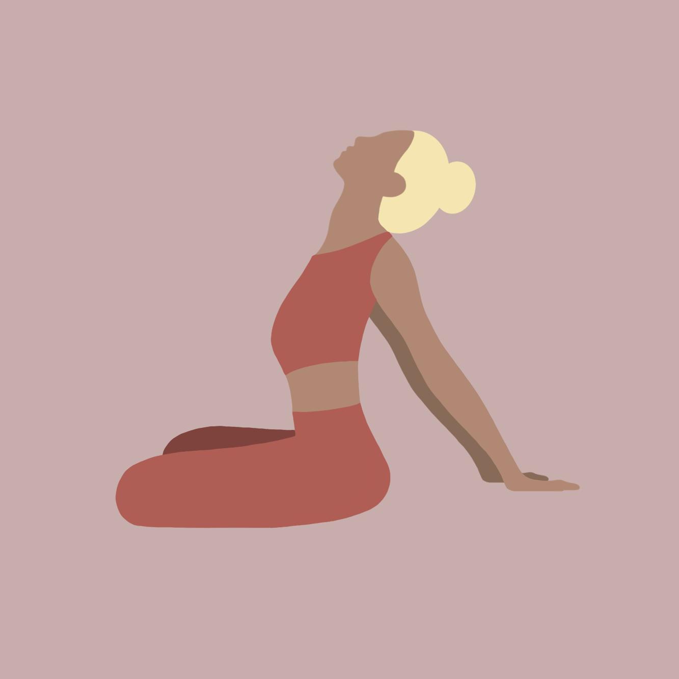 Illustration Yoga-Übung Nackenübung1