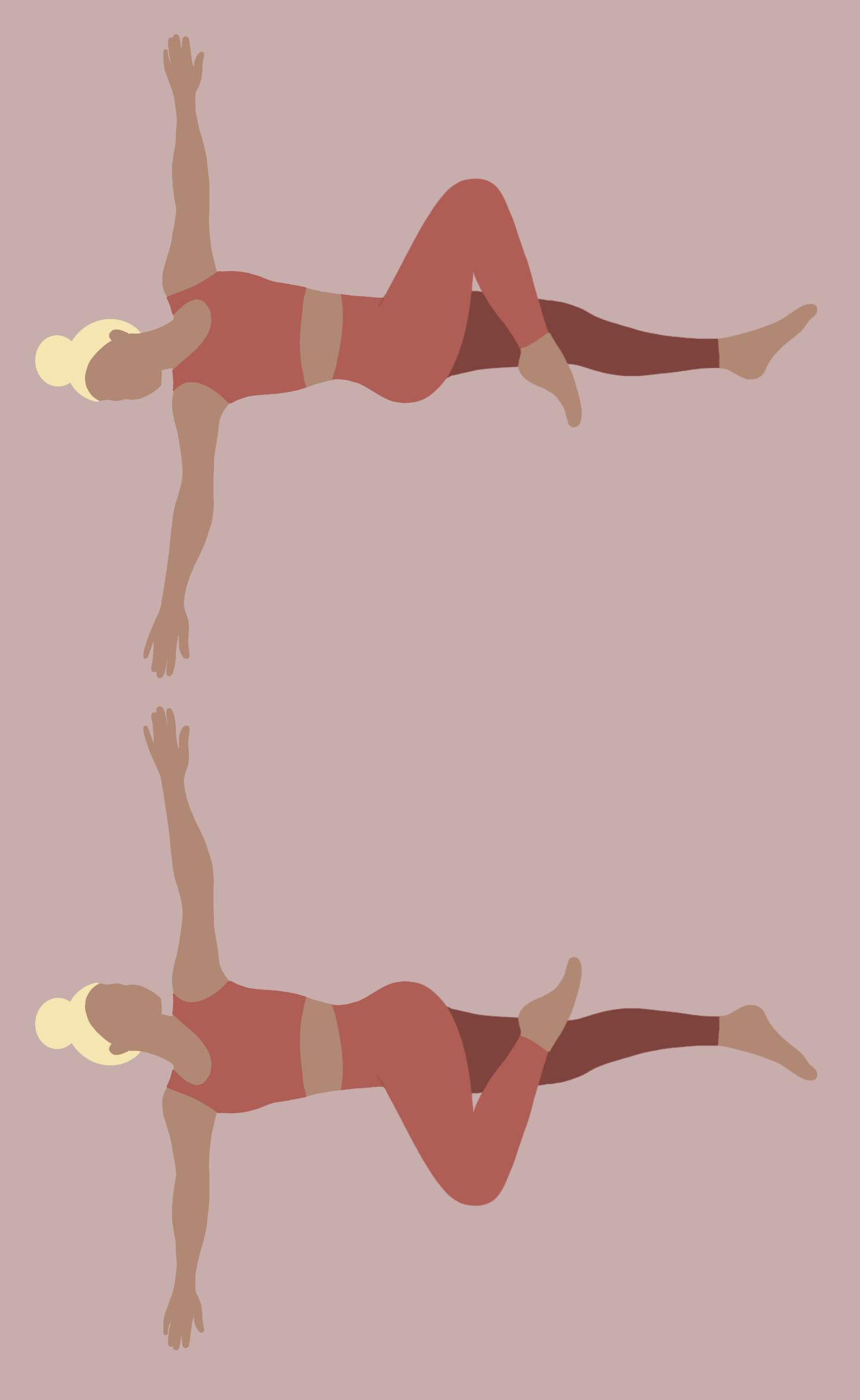 Illustration Yoga-Übung Krokodil
