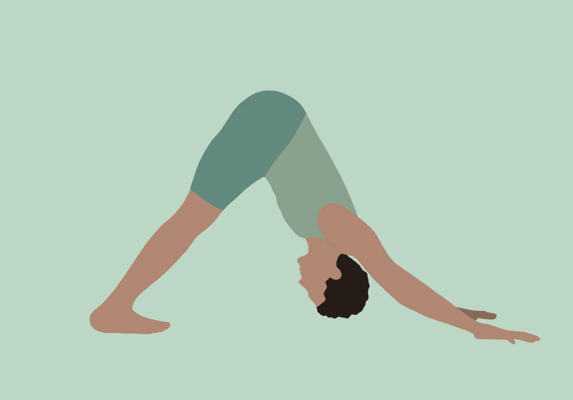 Illustration Yoga-Übung Herabschauender Hund