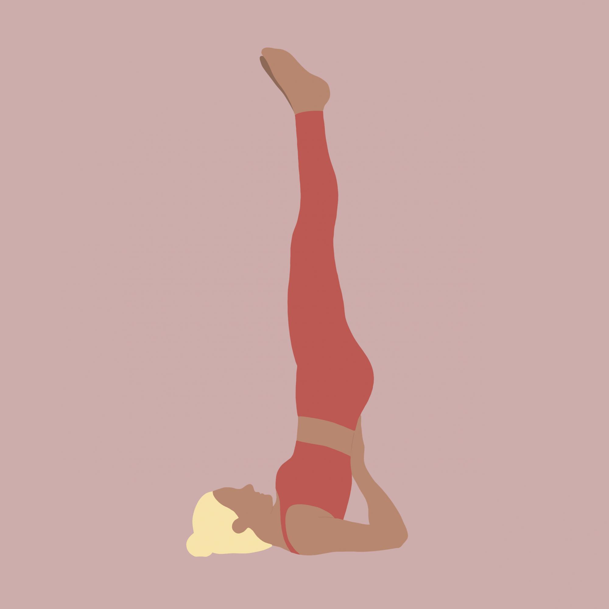 Illustration Yoga-Übung Schulterstand