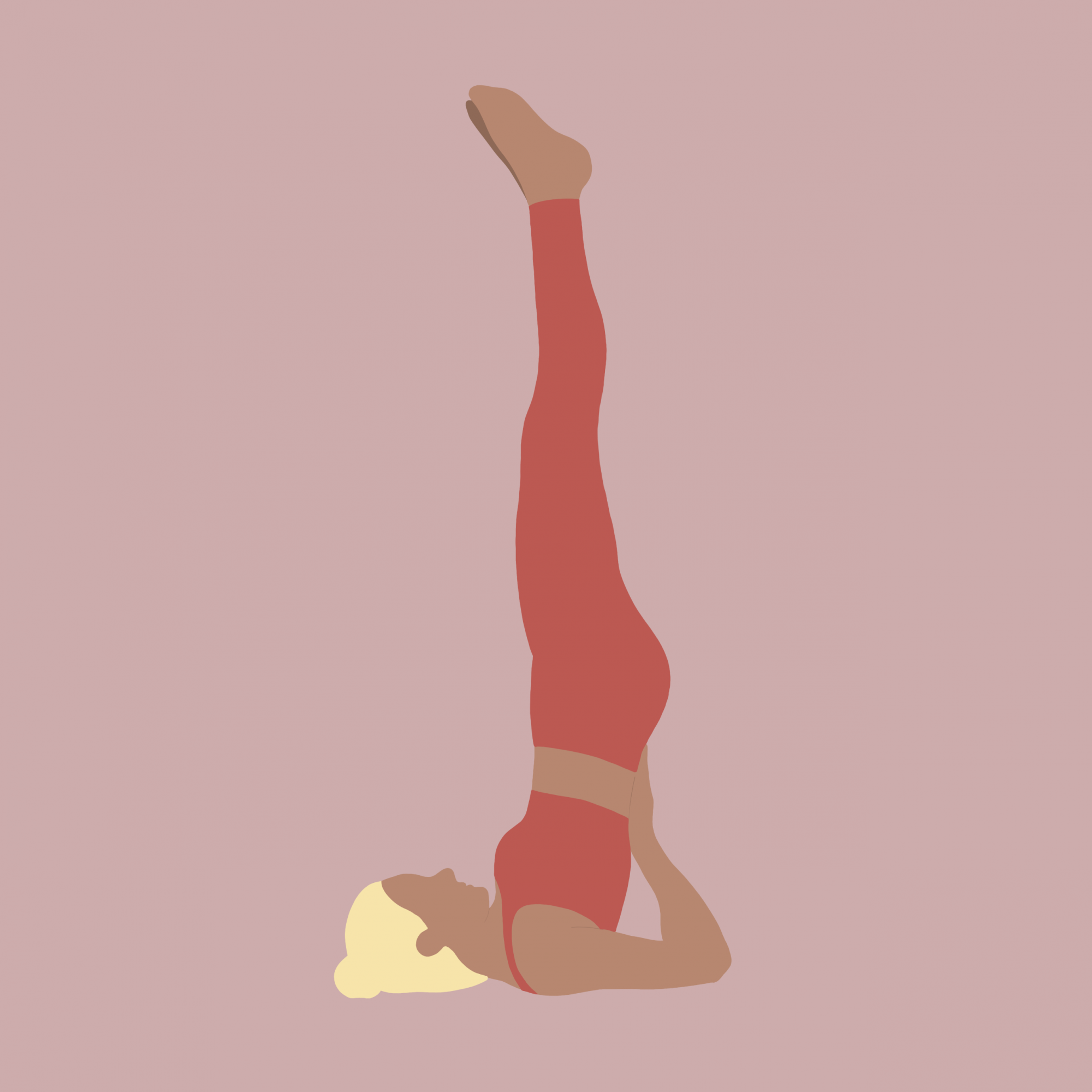 Illustration Yoga-Übung Schulterstand